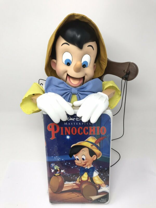 Telco Creations Disney Pinocchio Marionette Piece And Sealed VHS Pinocchio NEW!