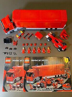LEGO Ferrari- Scuderia Ferrari Truck 8654 Pit Crew Semi Trailer F1 Race Car Team