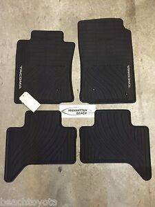 2005-2011 TACOMA DOUBLE CAB ALL WEATHER RUBBER FLOOR MATS OEM TOYOTA ACCESSORY