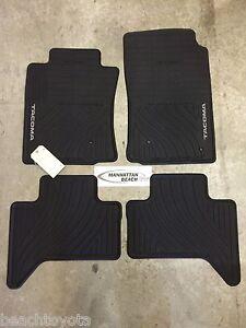 toyota tacoma rubber floor mats ebay. Black Bedroom Furniture Sets. Home Design Ideas