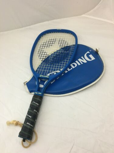 Vintage Spalding Top Flite Racquetball Racquet Racket With Zipper Cover Case