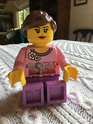 Rare Lego Belville Girl Minifigure Alarm Clock Retired - Excellent Condition