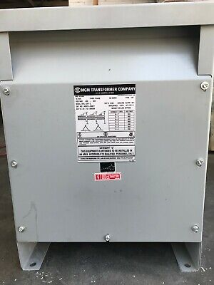 Mgm Transformer 480 Volt Three Phase 15 Kva 60 Hertz
