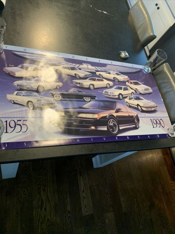 VINTAGE FORD THUNDERBIRD 35TH ANNIVERSARY DEALER POSTER