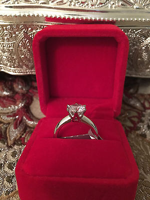 2 CT ROUND CUT DIAMOND SOLITAIRE ENGAGEMENT RING 14K WHITE GOLD ENHANCED 5.5