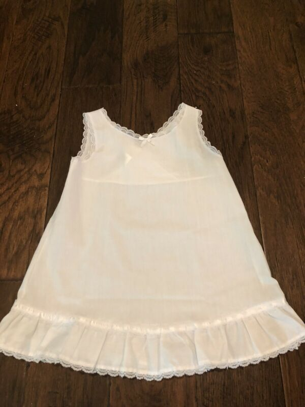 JC Collections Little Girls White Under Slip With Lace 4T