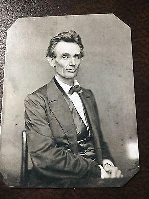 Abraham Lincoln Civil War President Tintype C085rp