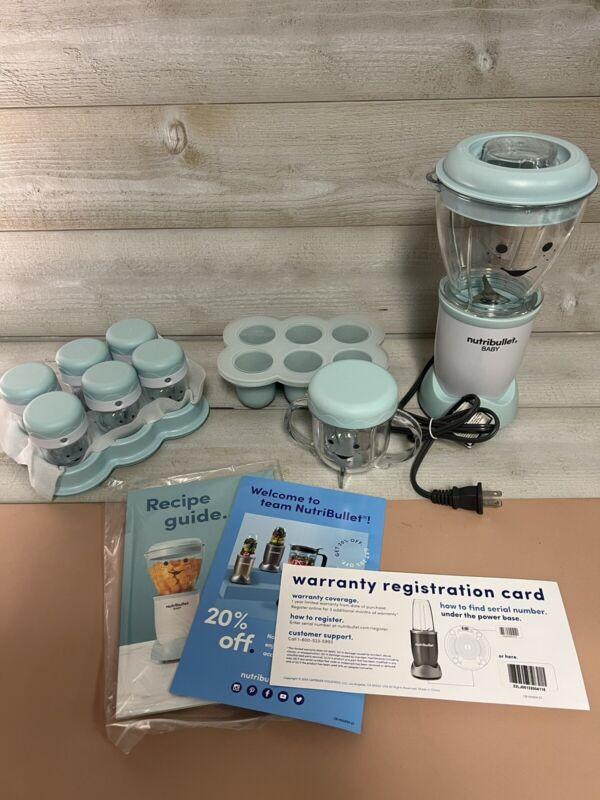 NutriBullet Baby Food Blender, 32-oz, Blue, NBY-50100 OPEN BOX