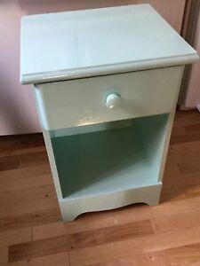 Light blue single bedside table