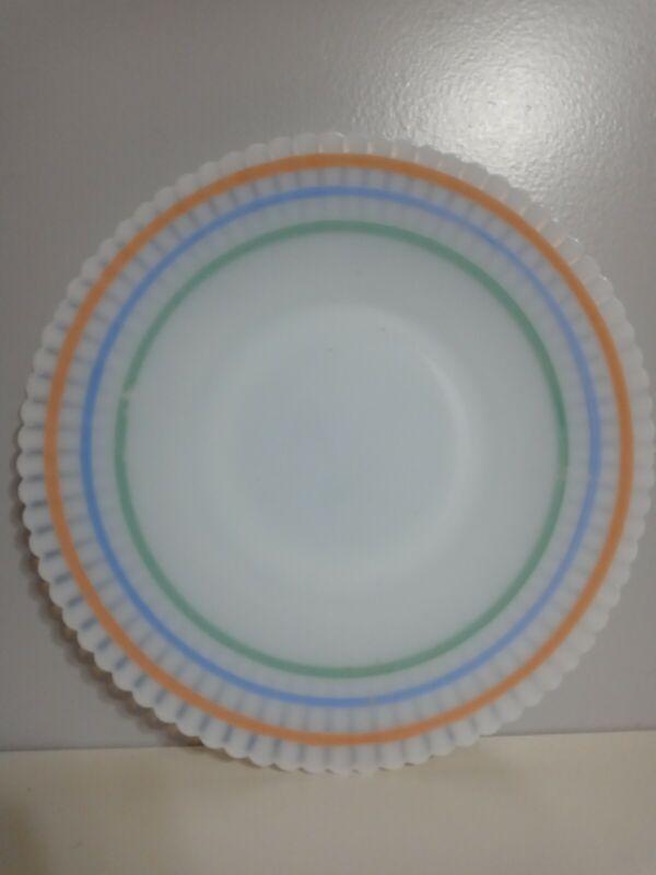"Vintage Macbeth Evans Depression Glass Monax Pastel Petalware 10.5"" Plate RARE"