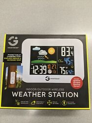 Smart Gear indoor Outdoor Wireless weather station Alarm Clock Color 5939 sealed