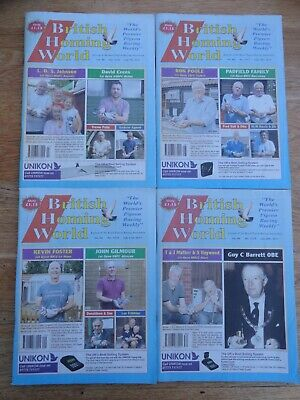 4x British Homing World racing pigeon birds magazines back issue July 2017