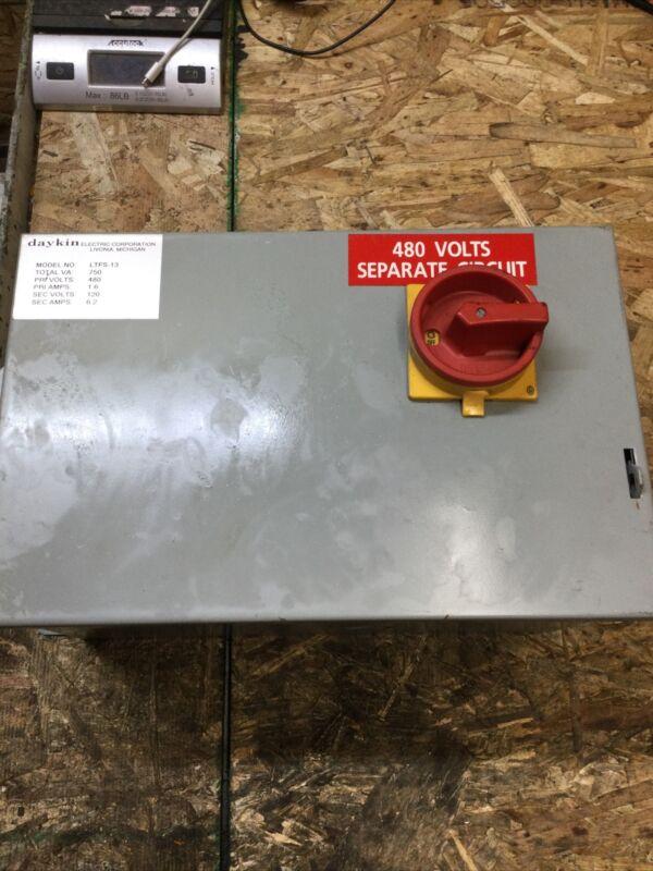Daykin LTFS-13 Transformer Disconnect 480V 1.6 Amps 750VA