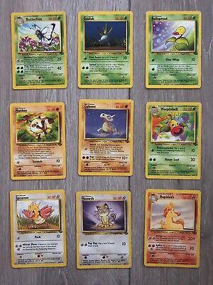 Pokemon cards Jungle Bundle Wotc Non Holo Ft. Butterfree Weepinbell 1st Gen