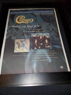 Chicago Dream A Little Dream Of Me Rare Original Radio Promo Poster Ad (Chicago Dream A Little Dream Of Me)