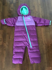 The North face violet infant snuggler down bunting 6-12 months