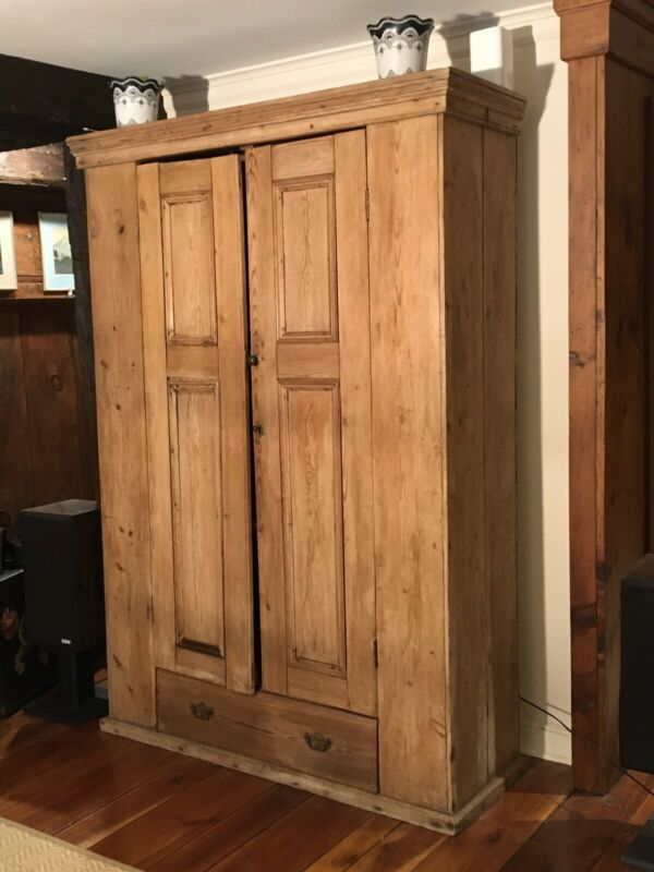 Antique Irish Pine Armoire