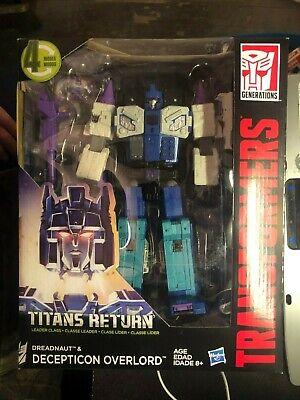 New Hasbro Transformers Titans Return Dreadnaut & Decepticon Overlord