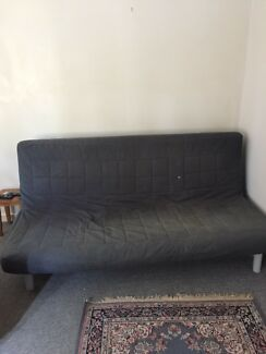 Couch that converts into a bed. Metal frame
