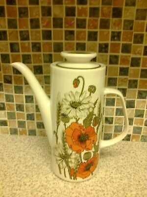 J & G MEAKIN STUDIO POPPY IRONSTONE DESIGN TALL COFFEE POT for sale  Shipping to Ireland