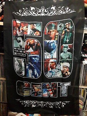 50 CENT   Unused  TEXTILE POSTER FLAG      rap hip hop  banner