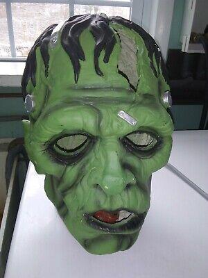 "Light Up Frankenstein Monster Head Halloween Decoration Prop Horror LARGE 13.5"""