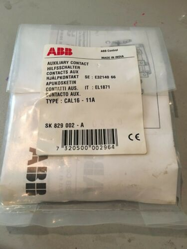 NEW IN BAG ABB CONTROL AUXILIARY CONTACT SK 829 002-A