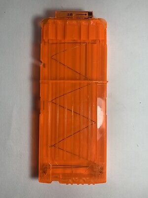 NERF Official N-Strike Orange 12 Round Dart Magazine Clip