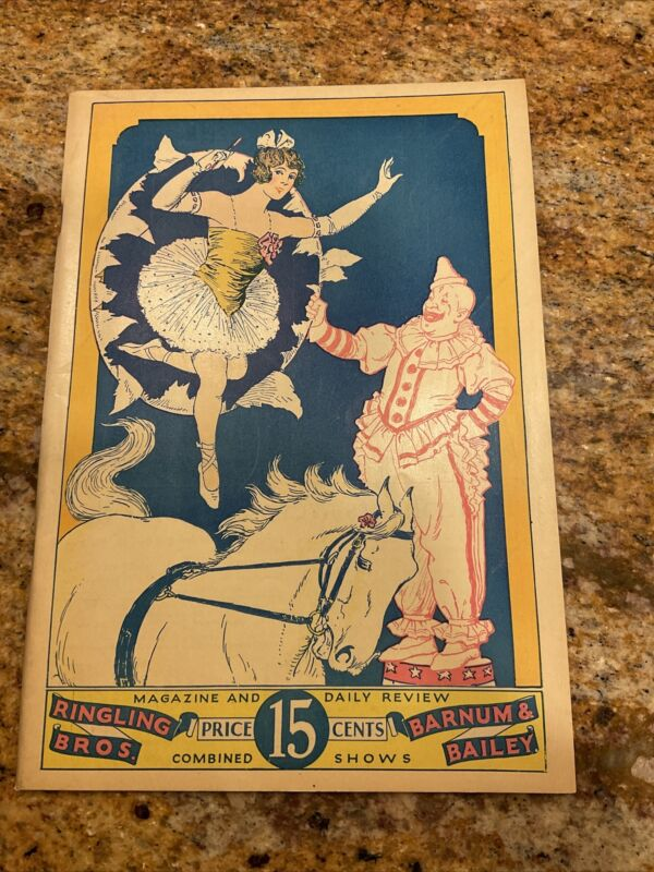 Rare 1928 Ringling Bros Barnum Bailey Combined Shows Magazine & Daily Review