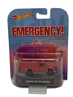 Hot Wheels Rapid Responder Emergency! Retro Entertainment (529)