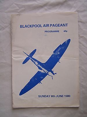 PROGRAMME, AEROPLANE, BLACKPOOL, AIR PAGEANT, RED ARROWS, 1980