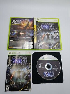 Star Wars: The Force Unleashed (Microsoft Xbox 360, 2008) complete