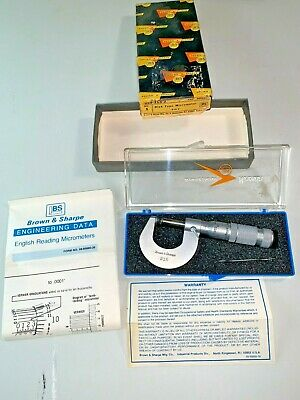 Brown Sharpe 0-1 Disc Micrometer No. 215 999-215-2 Nos