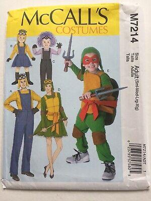 Minion Halloween Costume Pattern (McCalls Pattern M7214 adult Halloween costumes TMNT turtles minions S M L XL)