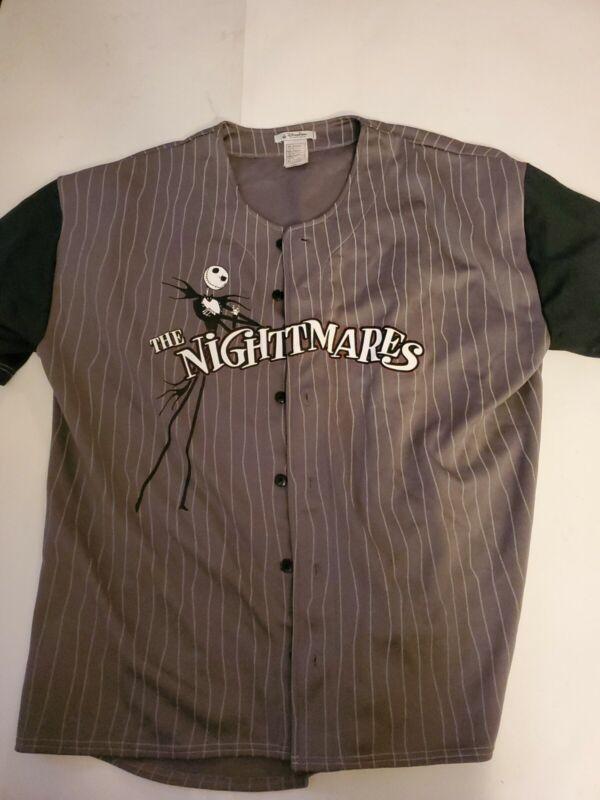 Disney Parks Baseball Jersey Nightmare Before Christmas XXL 2XL Jack Skellington