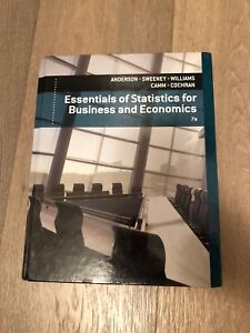 Essentials of Statistics for Business and Economics 7th Edition