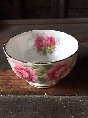 - Queen Anne Bone China Lady Alexander Rose Sugar Bowl