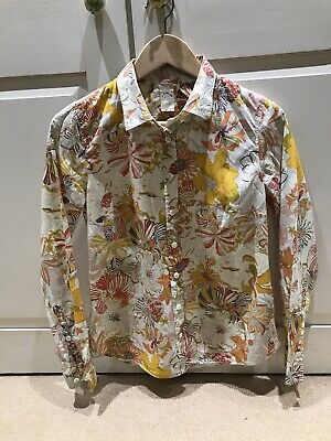 Liberty For J Crew Womens Cotton Shirt/Blouse Pretty Floral Print Size 8