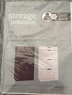 Aldi shoe cabinet white- no box