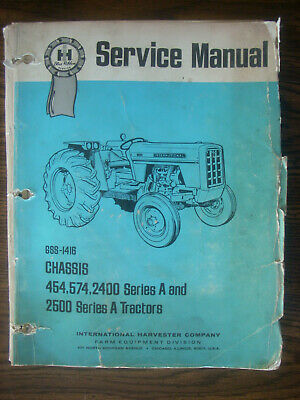 Ih Farmall International Mccormick 454 574 2400 2500 Chassis Service Manual