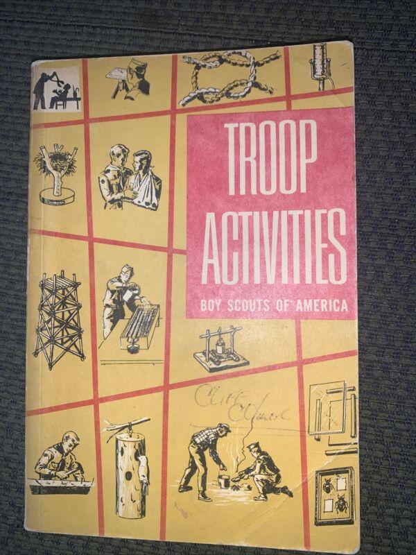 1962 Boy Scout Troop Activities Book  BSA