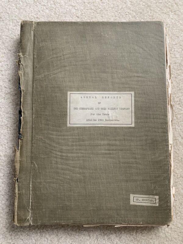 Chesapeake And Ohio Railroad Annual Reports 1916-1920 With Maps