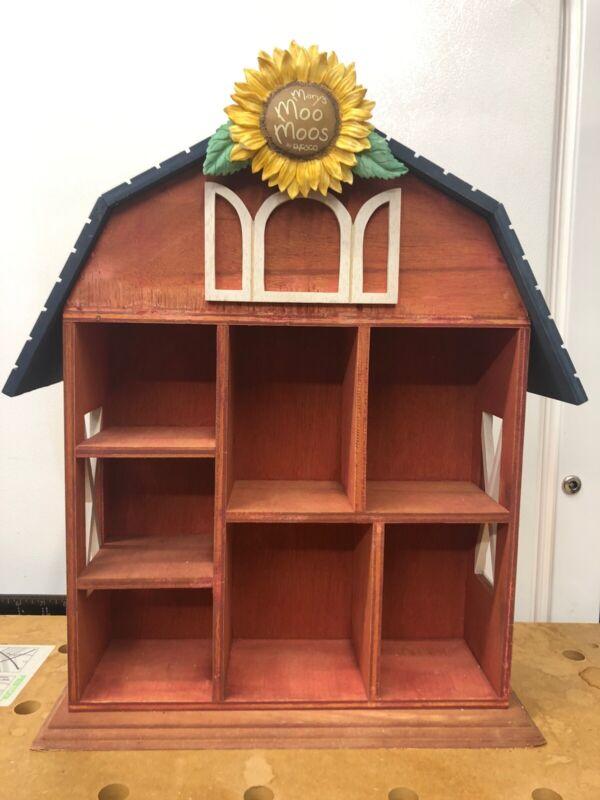 Marys Moo Moos Wooden Shadow Box #651257 Barn Display