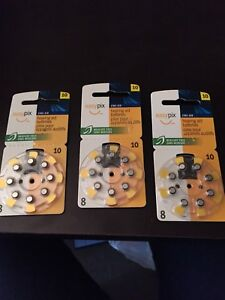 3 packages of Brand new easy pix size 10 hearing aid batteries