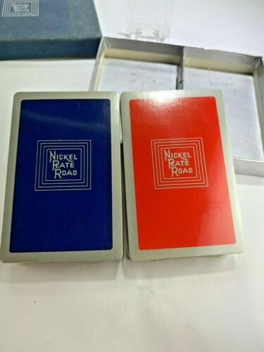 Nickel Plate Road  2 Railroad Playing Cards Decks New Original Revenue Stamps