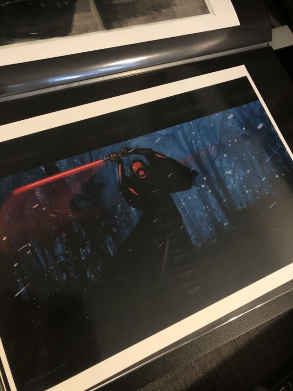 Star Wars Force Awakens Production used Concept artwork Lucasfilm ILM KYLO REN