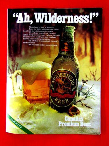 "1979 Moosehead Ah, Wilderness! Original Print Ad 8.5 x 11"""