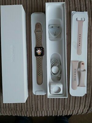 Apple Watch Series 2 38mm Rose Gold Immaculate Condition Boxed + Extra Strap