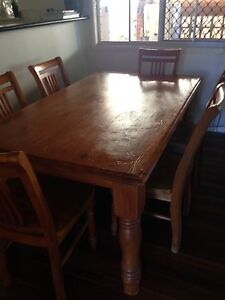 Dining Table & 6 x Chairs Margate Redcliffe Area Preview