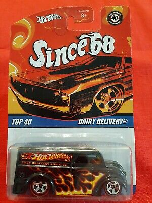 Hot Wheels Dairy Delivery SINCE 68 series TOP 40 2007 Black with flames